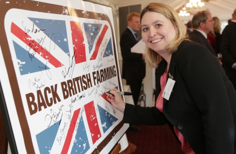Karen Bradley backs British Farming