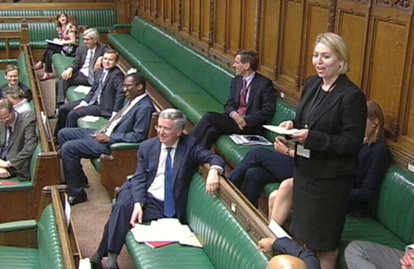 Karen Bradley MP speaking from back benches